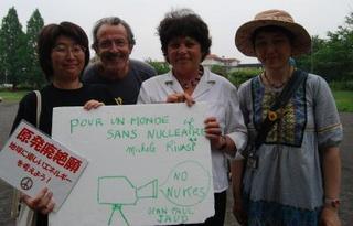 20110612フランス緑の党ミシェル・リヴァジ欧州議会議員と.jpg